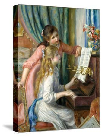 Two Young Girls at the Piano, 1892-Pierre-Auguste Renoir-Stretched Canvas Print