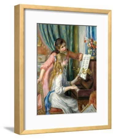 Two Young Girls at the Piano, 1892-Pierre-Auguste Renoir-Framed Giclee Print