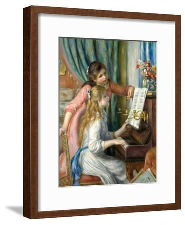 Two Young Girls at the Piano, 1892-Pierre-Auguste Renoir-Framed Premium Giclee Print