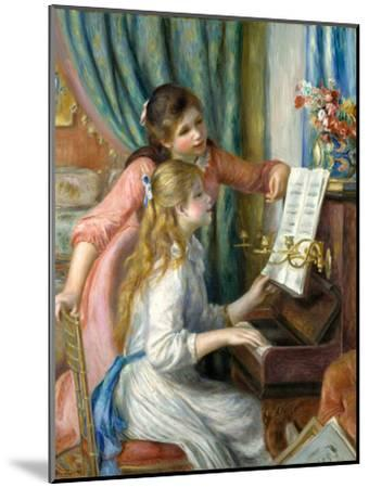 Two Young Girls at the Piano, 1892-Pierre-Auguste Renoir-Mounted Premium Giclee Print