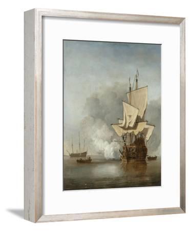 The Cannon Shot, c.1680-Willem Van De, The Younger Velde-Framed Giclee Print