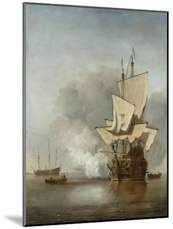 The Cannon Shot, c.1680-Willem Van De, The Younger Velde-Mounted Giclee Print