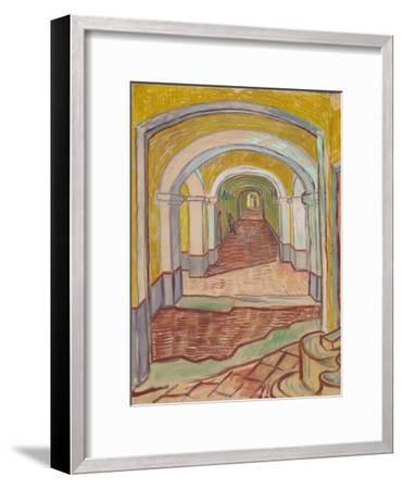Corridor in the Asylum, 1889-Vincent van Gogh-Framed Giclee Print