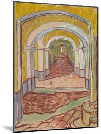 Corridor in the Asylum, 1889-Vincent van Gogh-Mounted Giclee Print