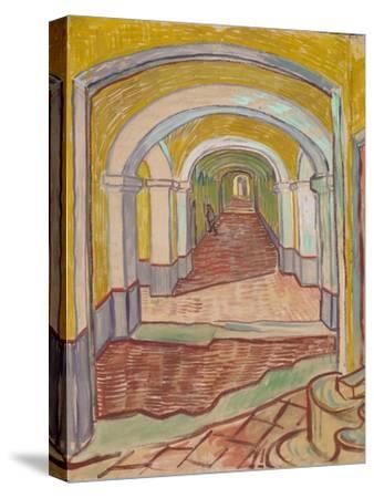 Corridor in the Asylum, 1889-Vincent van Gogh-Stretched Canvas Print