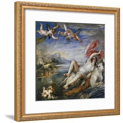 Rape of Europe, 1628-9-Peter Paul Rubens-Framed Giclee Print