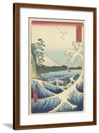 Seascape in Suruga, 1858-Ando or Utagawa Hiroshige-Framed Giclee Print