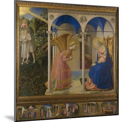 The Annunciation, 1425-8-Fra Angelico-Mounted Giclee Print