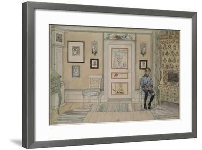In the Corner, From 'A Home' series, c.1895-Carl Larsson-Framed Giclee Print