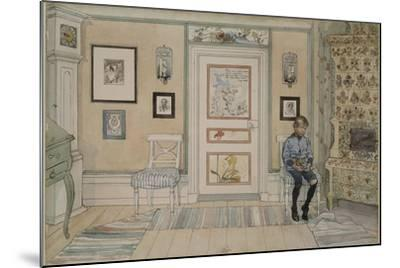 In the Corner, From 'A Home' series, c.1895-Carl Larsson-Mounted Giclee Print