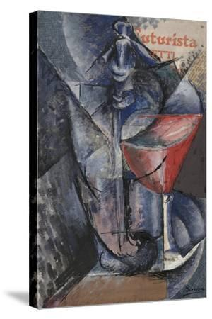 Still Life: Glass and Siphon, c.1914-Umberto Boccioni-Stretched Canvas Print