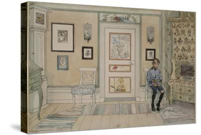 In the Corner, From 'A Home' series, c.1895-Carl Larsson-Stretched Canvas Print
