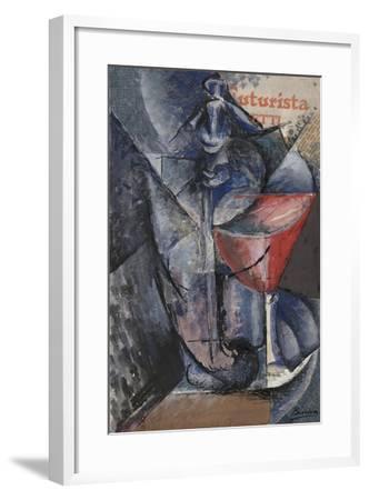 Still Life: Glass and Siphon, c.1914-Umberto Boccioni-Framed Giclee Print