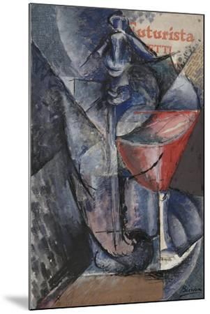 Still Life: Glass and Siphon, c.1914-Umberto Boccioni-Mounted Giclee Print