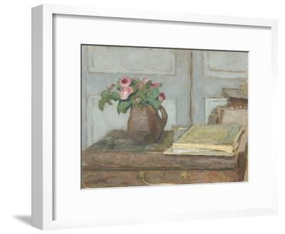 The Artist's Paint Box and Moss Roses, 1898-Edouard Vuillard-Framed Giclee Print