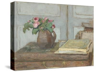 The Artist's Paint Box and Moss Roses, 1898-Edouard Vuillard-Stretched Canvas Print