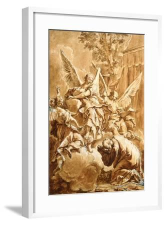 Abraham and the Three Angels, c.1750-Francesco Fontebasso-Framed Giclee Print