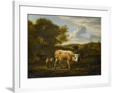 Mountainous Landscape with Cows, 1663-Adriaen van de Velde-Framed Giclee Print