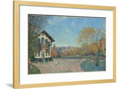 View of Marly-le-Roi from Coeur-Volant, 1876-Alfred Sisley-Framed Giclee Print