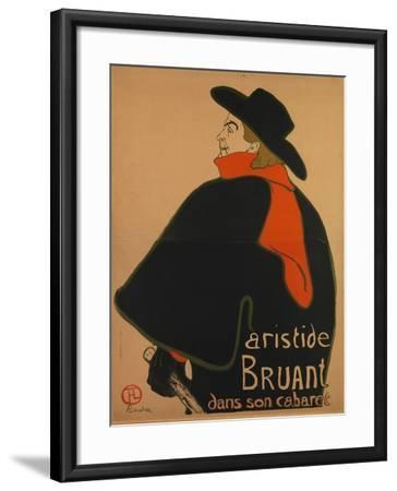 Aristide Bruant, at His Cabaret, 1893-Henri de Toulouse-Lautrec-Framed Giclee Print