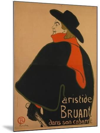 Aristide Bruant, at His Cabaret, 1893-Henri de Toulouse-Lautrec-Mounted Giclee Print