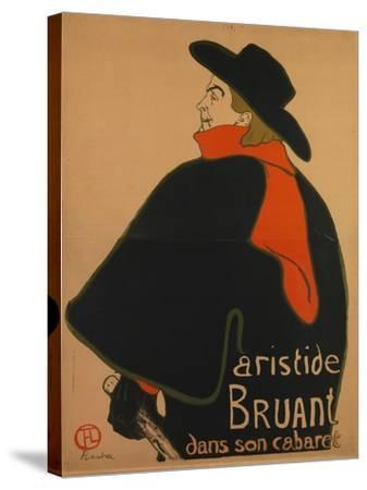 Aristide Bruant, at His Cabaret, 1893-Henri de Toulouse-Lautrec-Stretched Canvas Print