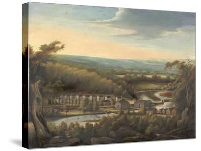 The Eli Whitney Gun Factory, c.1826-8-William Giles Munson-Stretched Canvas Print