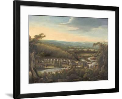 The Eli Whitney Gun Factory, c.1826-8-William Giles Munson-Framed Giclee Print