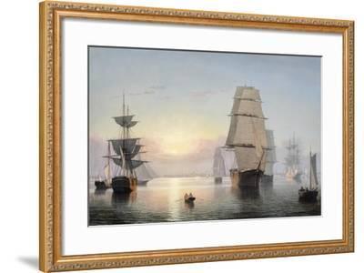 Boston Harbor, Sunset, 1850-55-Fitz Henry Lane-Framed Giclee Print