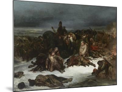 The Retreat of Napoleon's Army from Russia in 1812, 1826-Ary Scheffer-Mounted Giclee Print