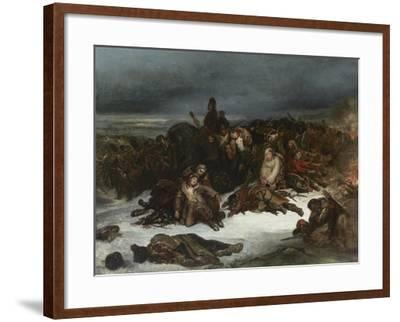 The Retreat of Napoleon's Army from Russia in 1812, 1826-Ary Scheffer-Framed Giclee Print