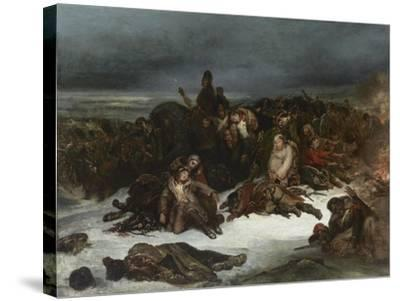 The Retreat of Napoleon's Army from Russia in 1812, 1826-Ary Scheffer-Stretched Canvas Print