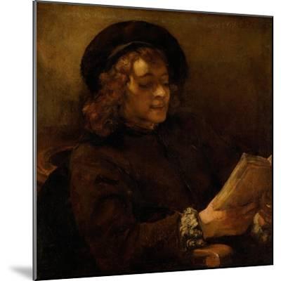 Titus reading, 1656-7-Rembrandt van Rijn-Mounted Giclee Print