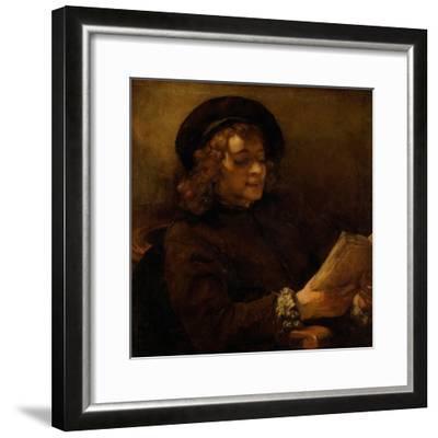 Titus reading, 1656-7-Rembrandt van Rijn-Framed Giclee Print