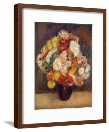 Bouquet of Chrysanthemums, 1881-Pierre-Auguste Renoir-Framed Giclee Print