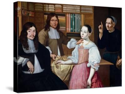 In the Draper´s Shop, 1670-Adriaen Bloem-Stretched Canvas Print