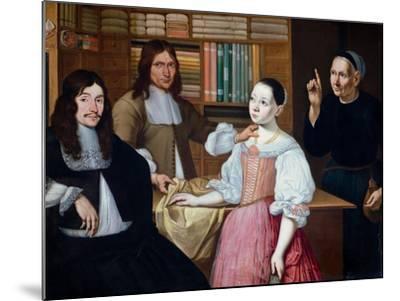 In the Draper´s Shop, 1670-Adriaen Bloem-Mounted Giclee Print