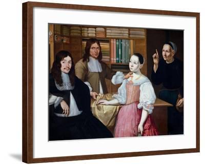 In the Draper´s Shop, 1670-Adriaen Bloem-Framed Giclee Print