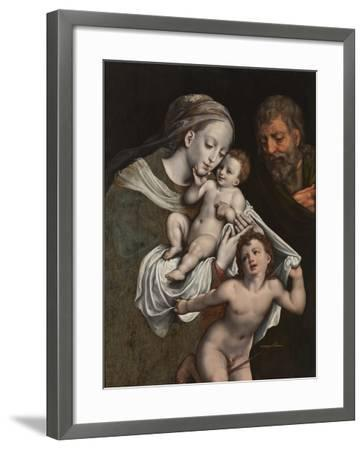 The Holy Family with the Infant St John-Cornelis van Cleve-Framed Giclee Print