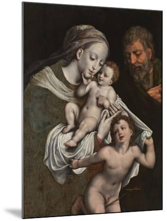 The Holy Family with the Infant St John-Cornelis van Cleve-Mounted Giclee Print