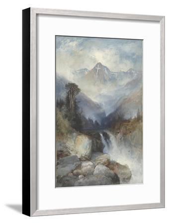 Mountain of the Holy Cross, 1890-Thomas Moran-Framed Giclee Print