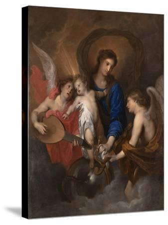 Virgin and Child with Music-Making Angels, c.1630-Anthony van Dyck-Stretched Canvas Print