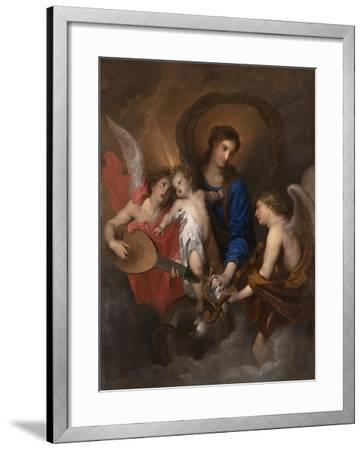 Virgin and Child with Music-Making Angels, c.1630-Anthony van Dyck-Framed Giclee Print