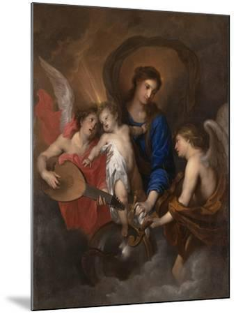 Virgin and Child with Music-Making Angels, c.1630-Anthony van Dyck-Mounted Giclee Print