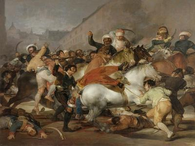 The Second of May, 1808 or The Charge of the Mamelukes, 1814-Francisco de Goya-Framed Giclee Print