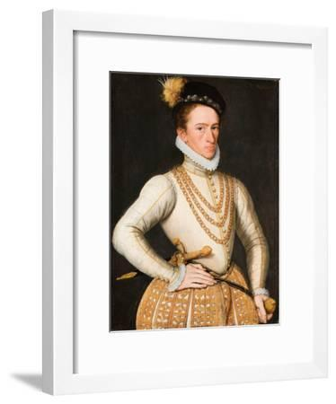 Portrait of an Unknown French Nobleman, 1560-9-French School-Framed Giclee Print
