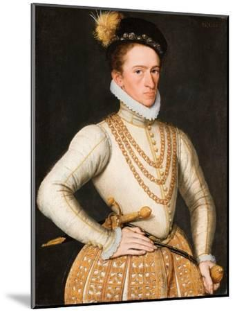 Portrait of an Unknown French Nobleman, 1560-9-French School-Mounted Giclee Print