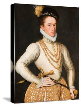 Portrait of an Unknown French Nobleman, 1560-9-French School-Stretched Canvas Print