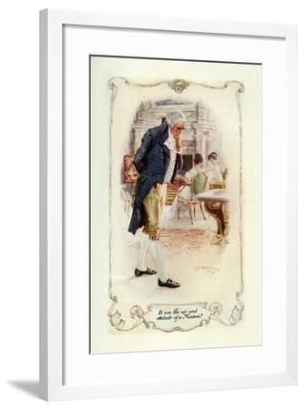 It Was the Air and Attitude of a Montoni, 1907-Charles Edmund Brock-Framed Giclee Print