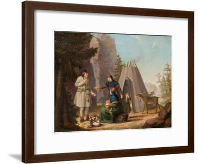 The Costumes of the Lapponians, c.1800-Pehr Hillestrom-Framed Giclee Print